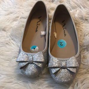 Girls Nina glitter shoes